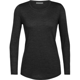 Icebreaker Sphere LS Low Crew Shirt Women, black heather